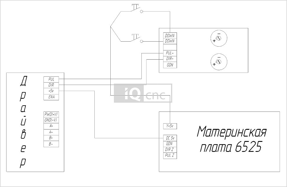 Электрическая схема подключения платы FC11SC